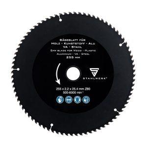 metaalcirkelzaag zwart 255x 25.4mm