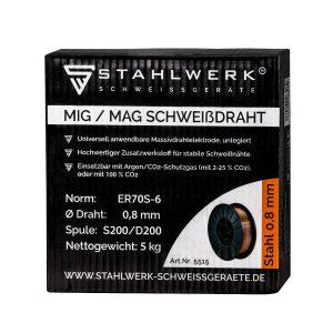 MIG MAG lasdraad ER70S-6 SG3 Ø 0,8 mm S200 / D200 rol 5 kg