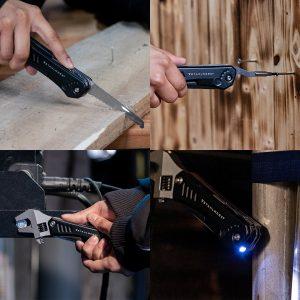 Multifunctionele gereedschapset sleutel en lamp 10 in 1