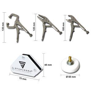 Mini multifunctionele gereedschapsset 6 stuks