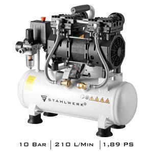 STAHLWERK perslucht-fluistercompressor ST 110 Pro